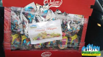 La PROREC SRL dona alla Caritas 300 colombe e uova di Pasqua